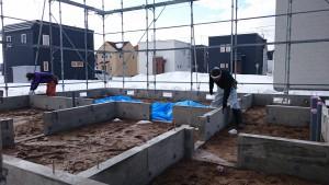 土台敷き 2
