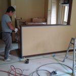 台所笠木塗装